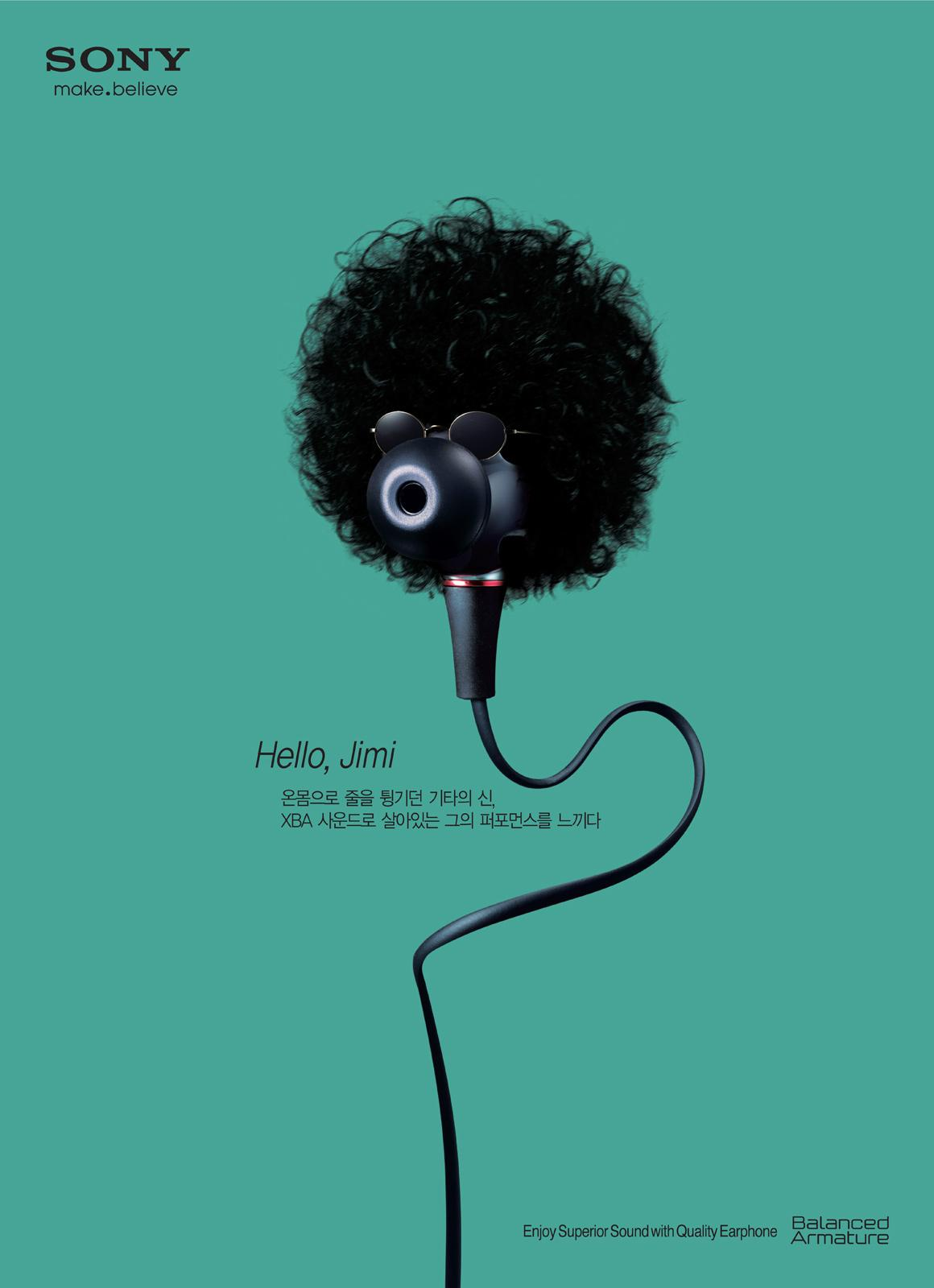 Sony Print Ad -  Jimi Hendrix