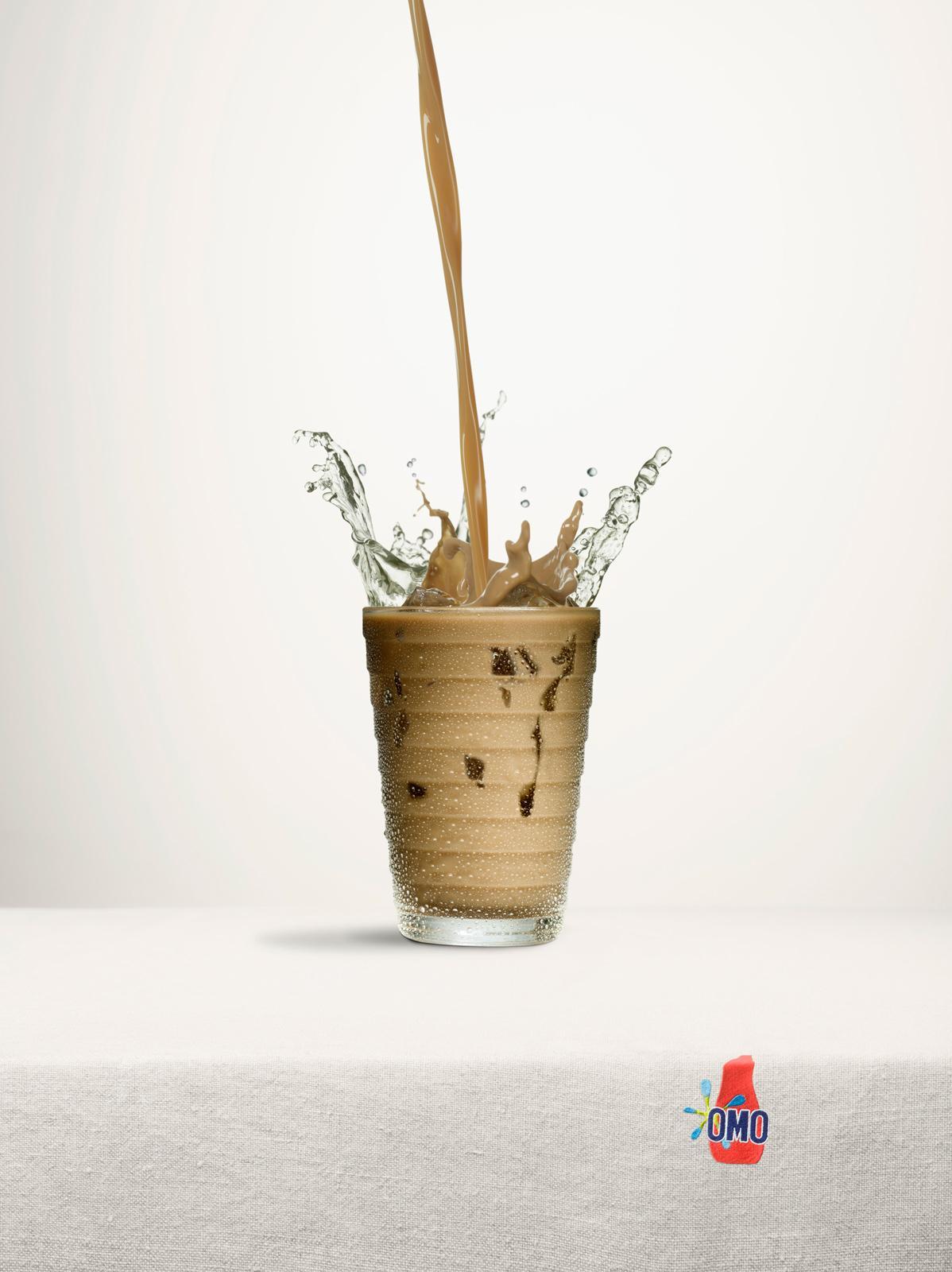 OMO Print Ad -  Splash, Coffee