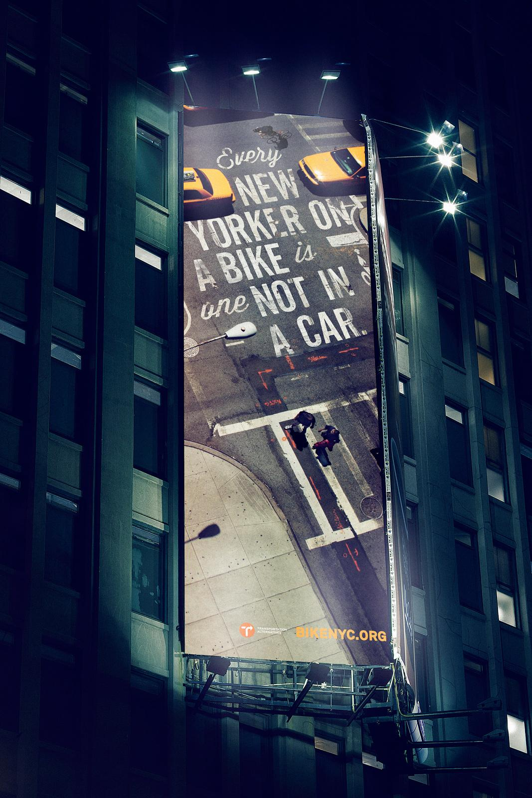 BikeNYC Outdoor Ad -  Not in a car
