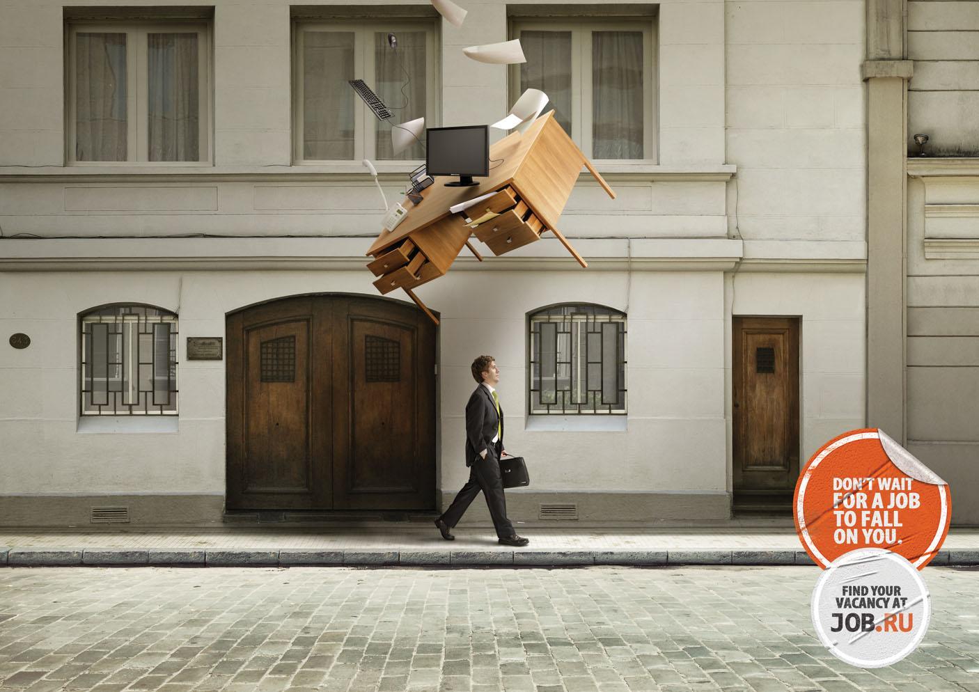 job.ru Print Ad -  Fall, Clerk