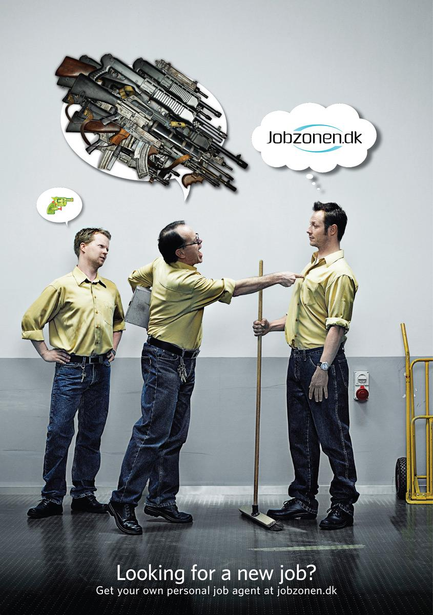 Jobzonen Print Ad -  Guns