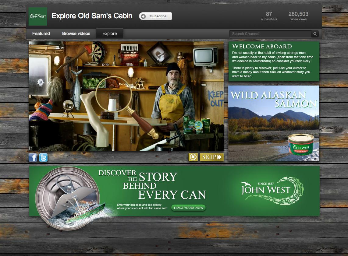 John West Digital Ad -  Discover the story behind every can