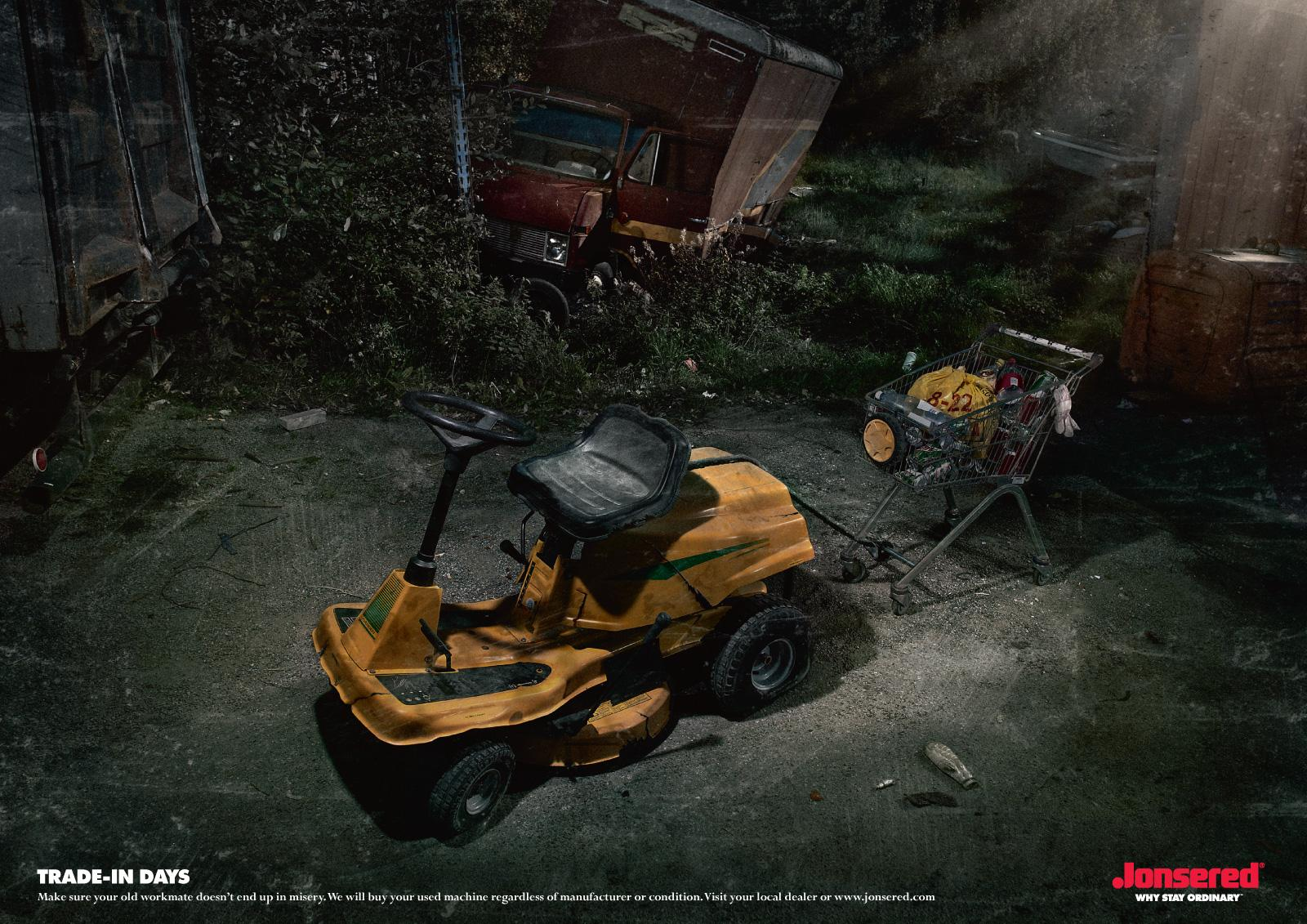 Jonsered Print Ad -  Trade-in campaign, Tractor