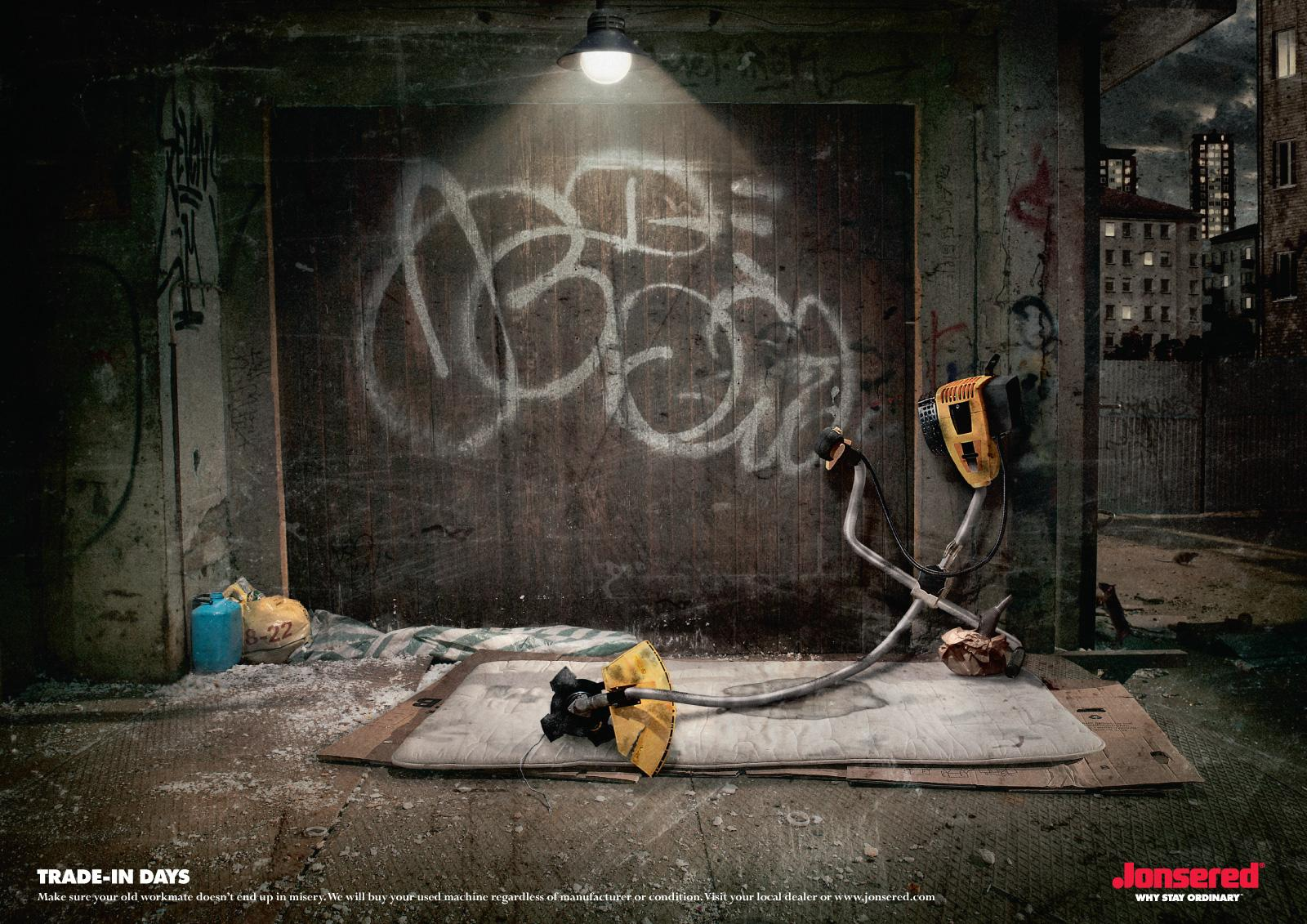 Jonsered Print Ad -  Trade-in campaign, Trimmer