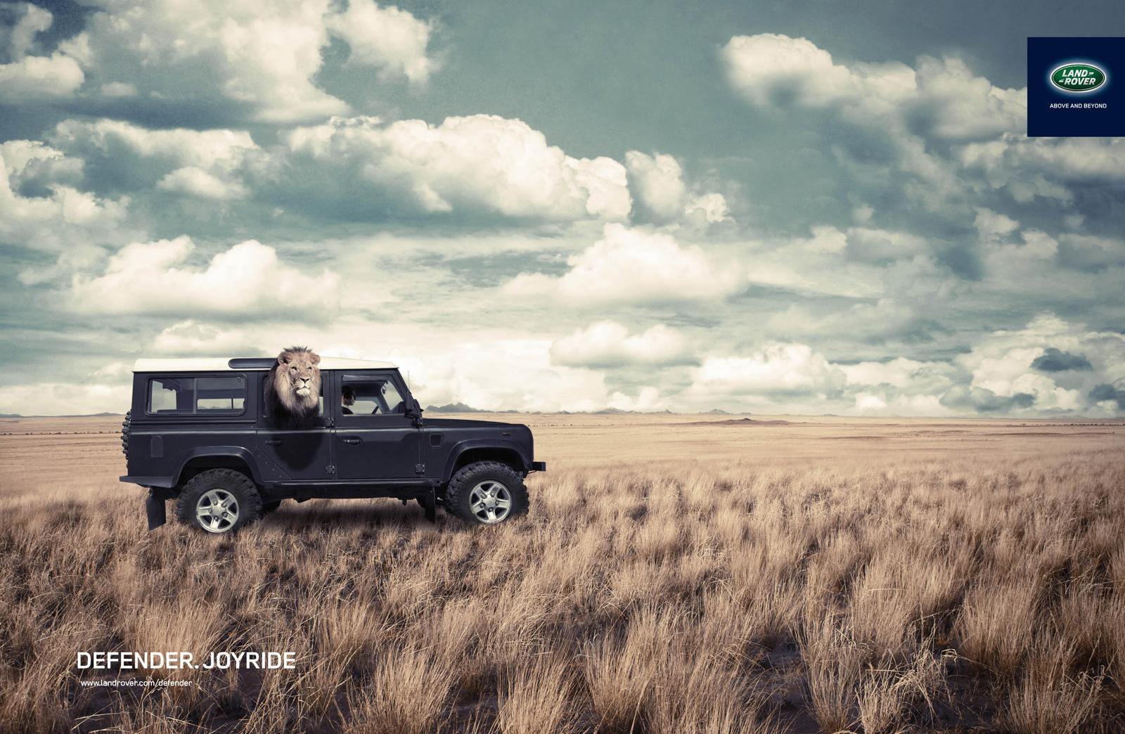 Land Rover Print Ad -  Lion