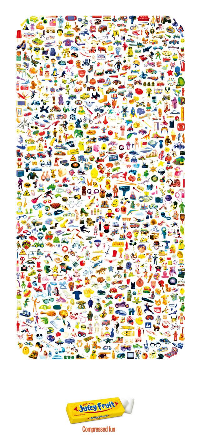Juicy Fruit Print Ad -  Compressed Fun, Toys