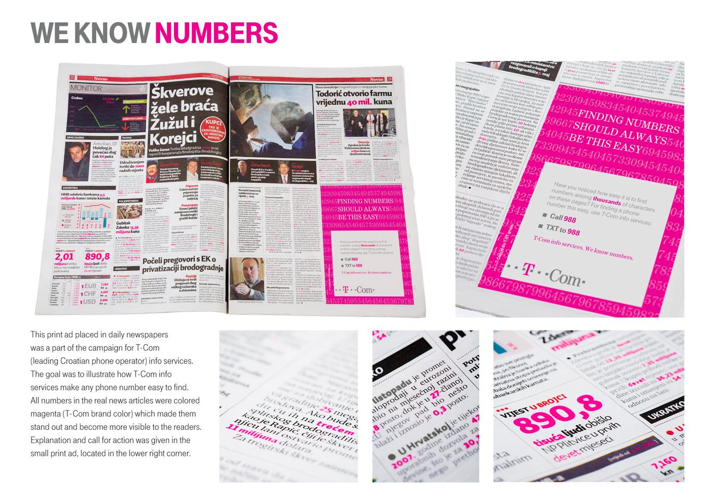 T-Com Print Ad -  We know numbers