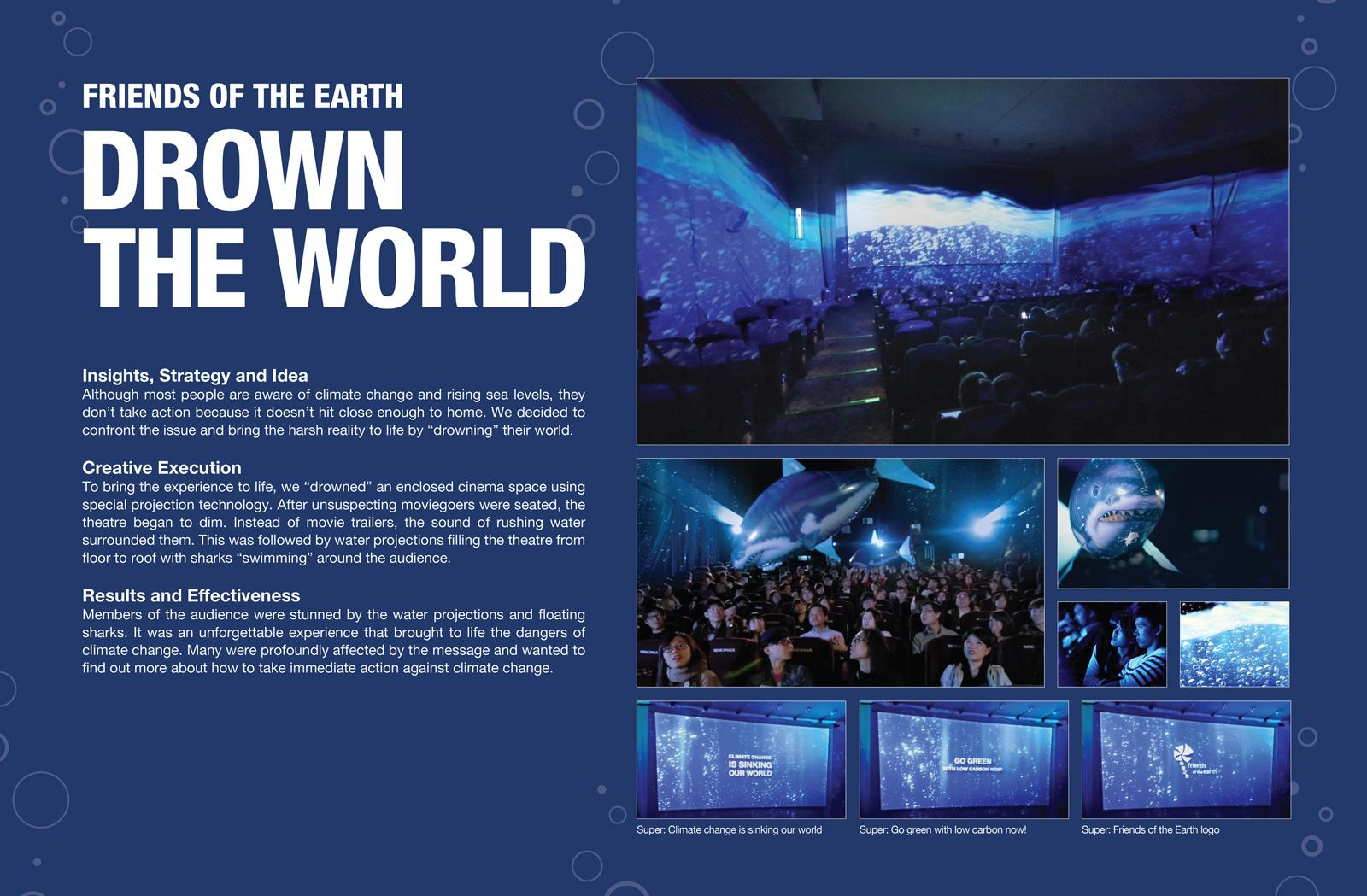 Friends of the Earth Ambient Ad -  Drown The World