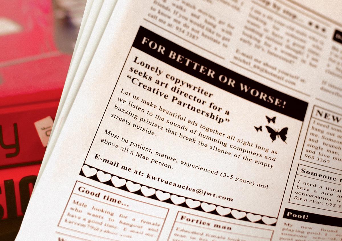 JWT Print Ad -  Creative