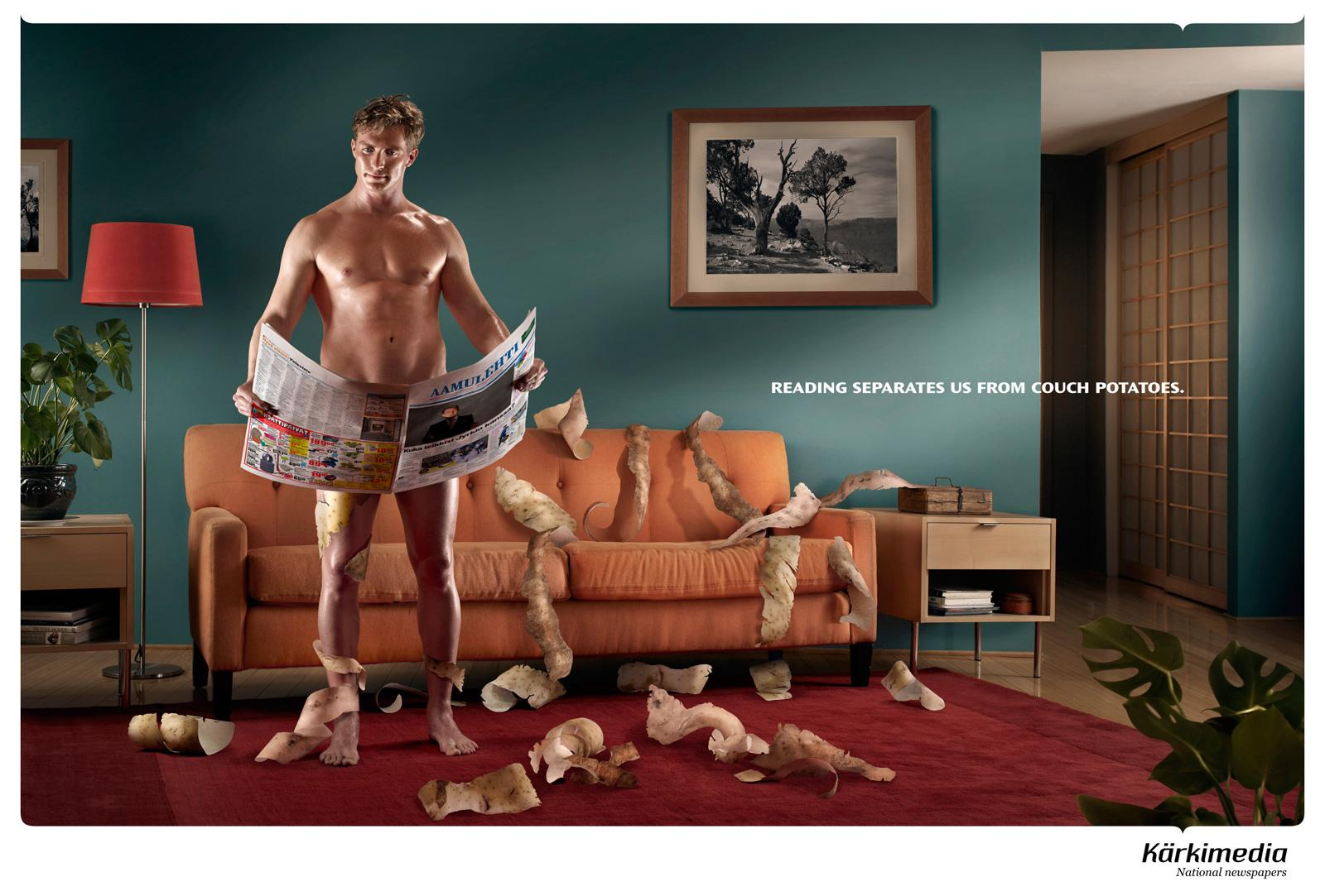 Kärkimedia Print Ad -  Former couch potato