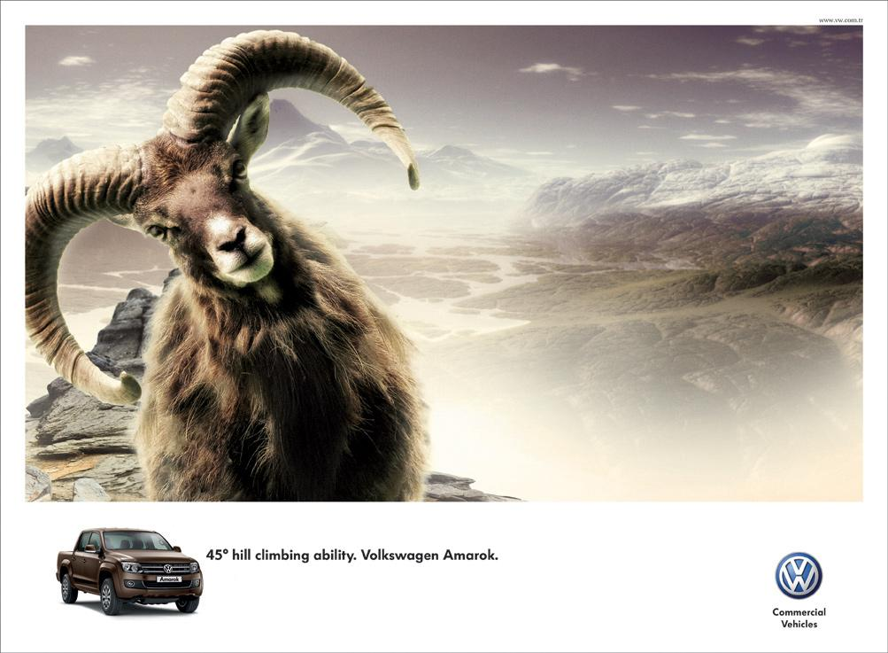 Volkswagen Print Ad -  Goat