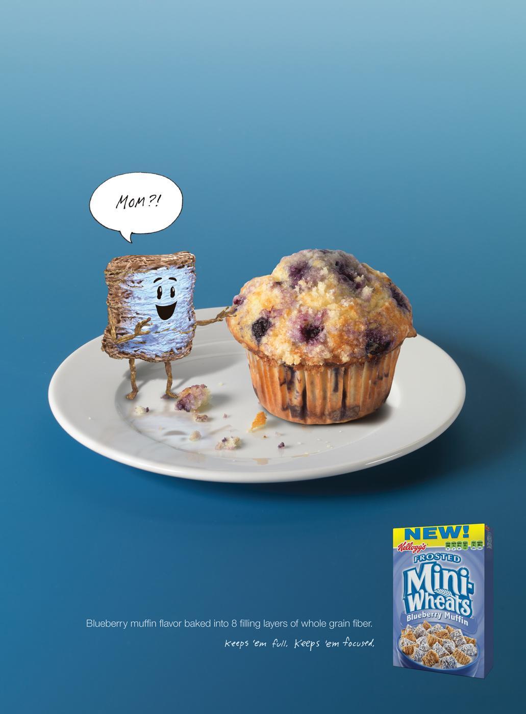 Kellogg's Print Ad -  Blueberry