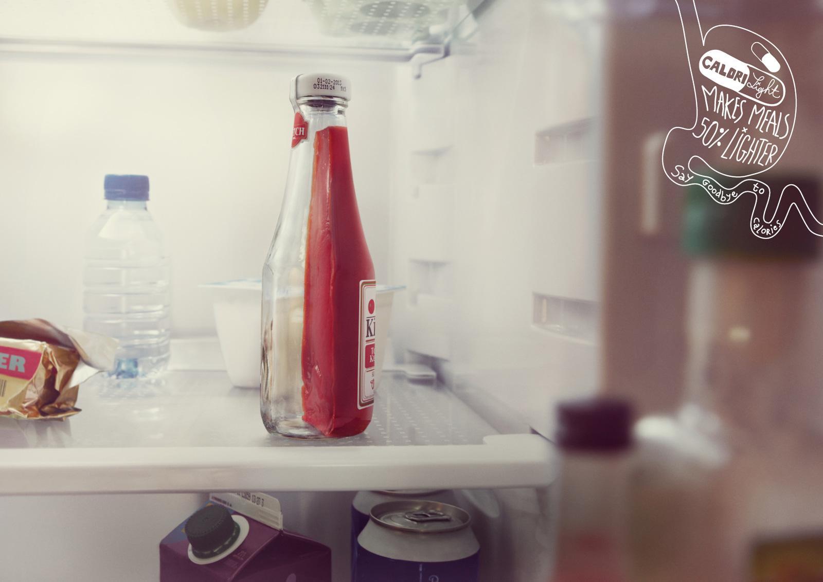 Calorilight Print Ad -  Ketchup
