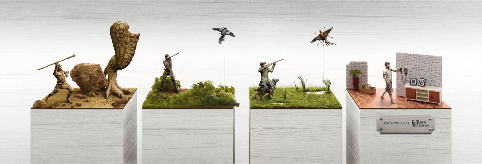 KFC Outdoor Ad -  Life Gets Easier, Hunting
