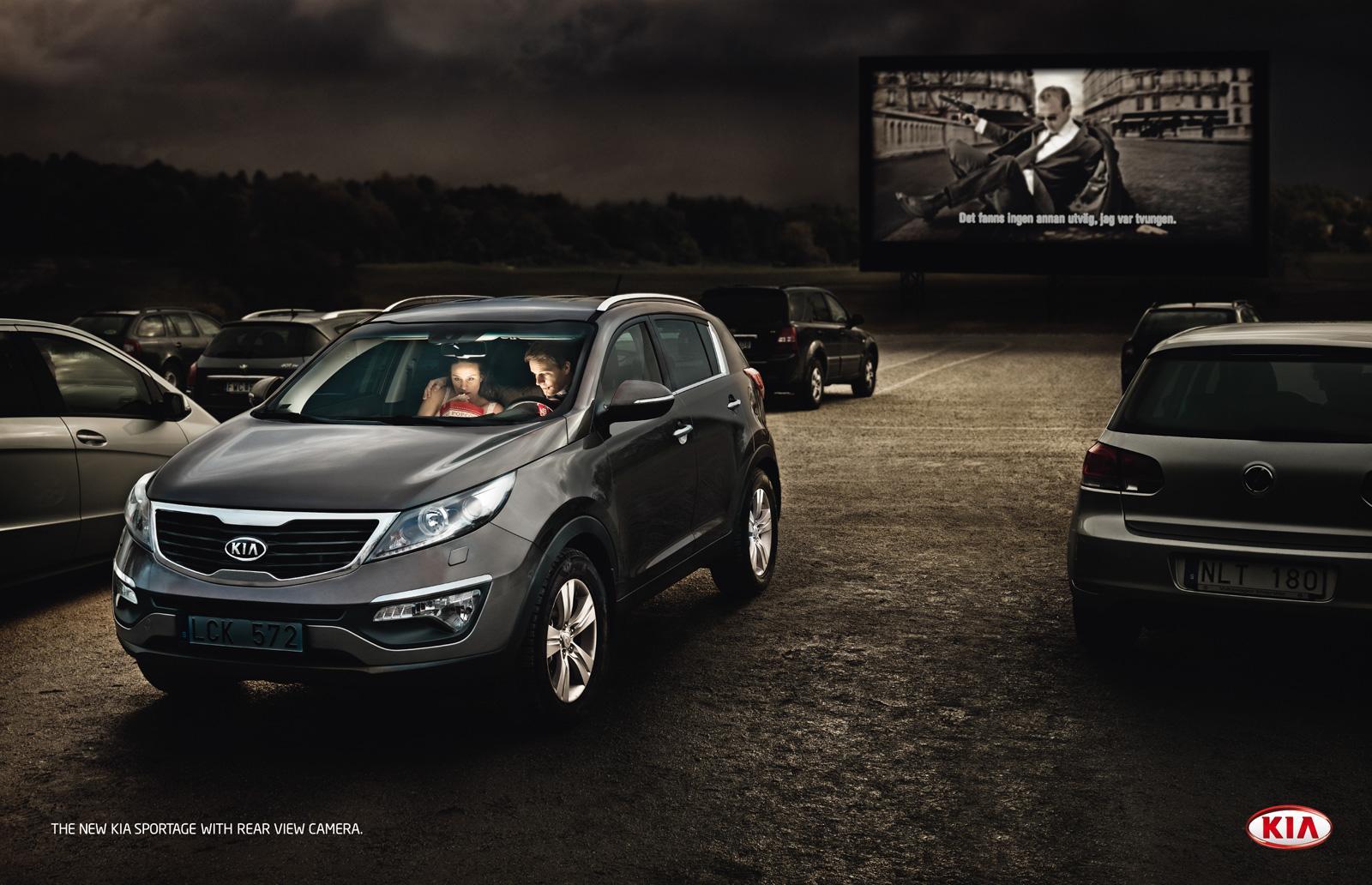KIA Print Ad -  Drive-in