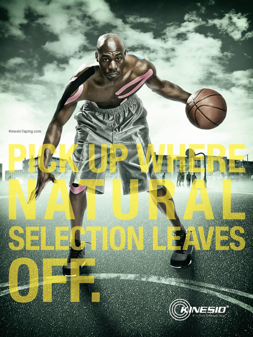 Kinesio Print Ad -  Natural selection
