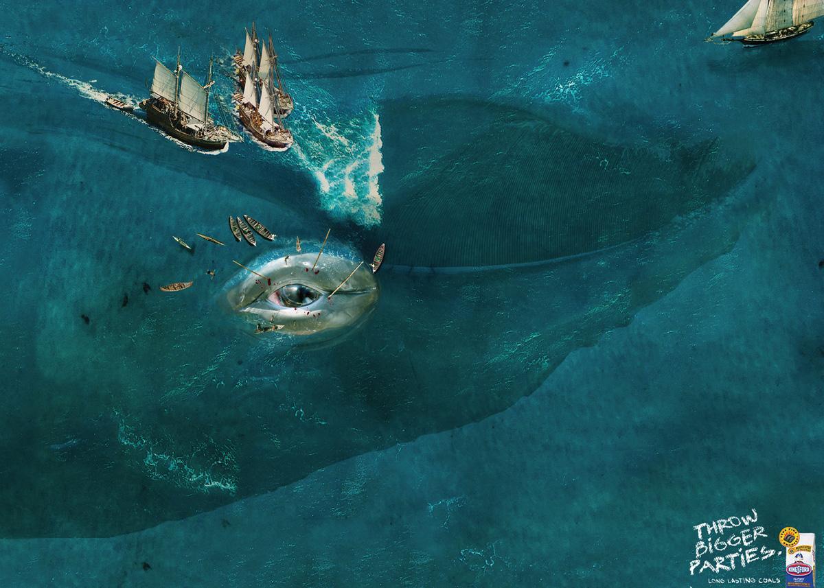 Kingsford Print Ad -  Whale
