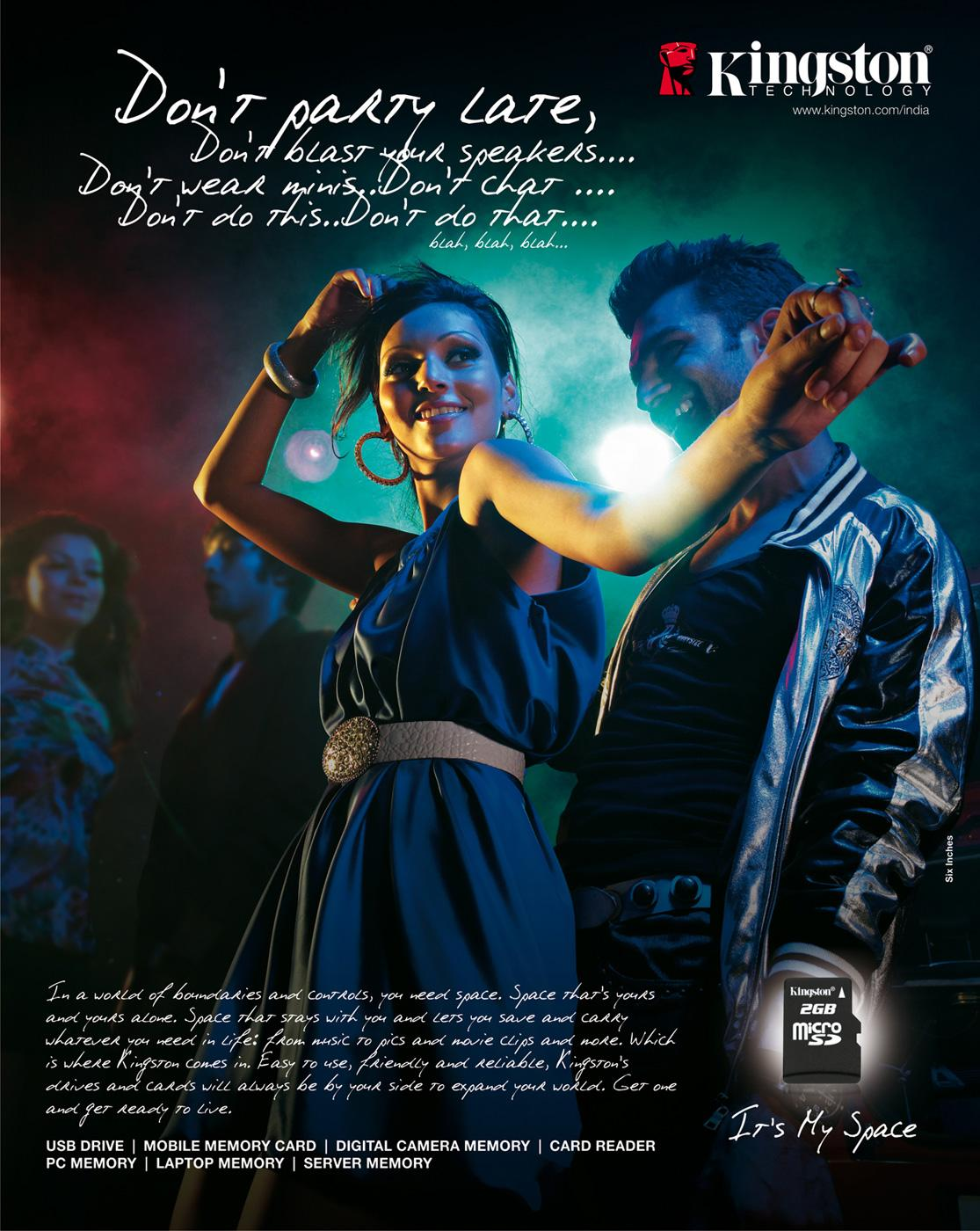 Kingston Print Ad -  Party