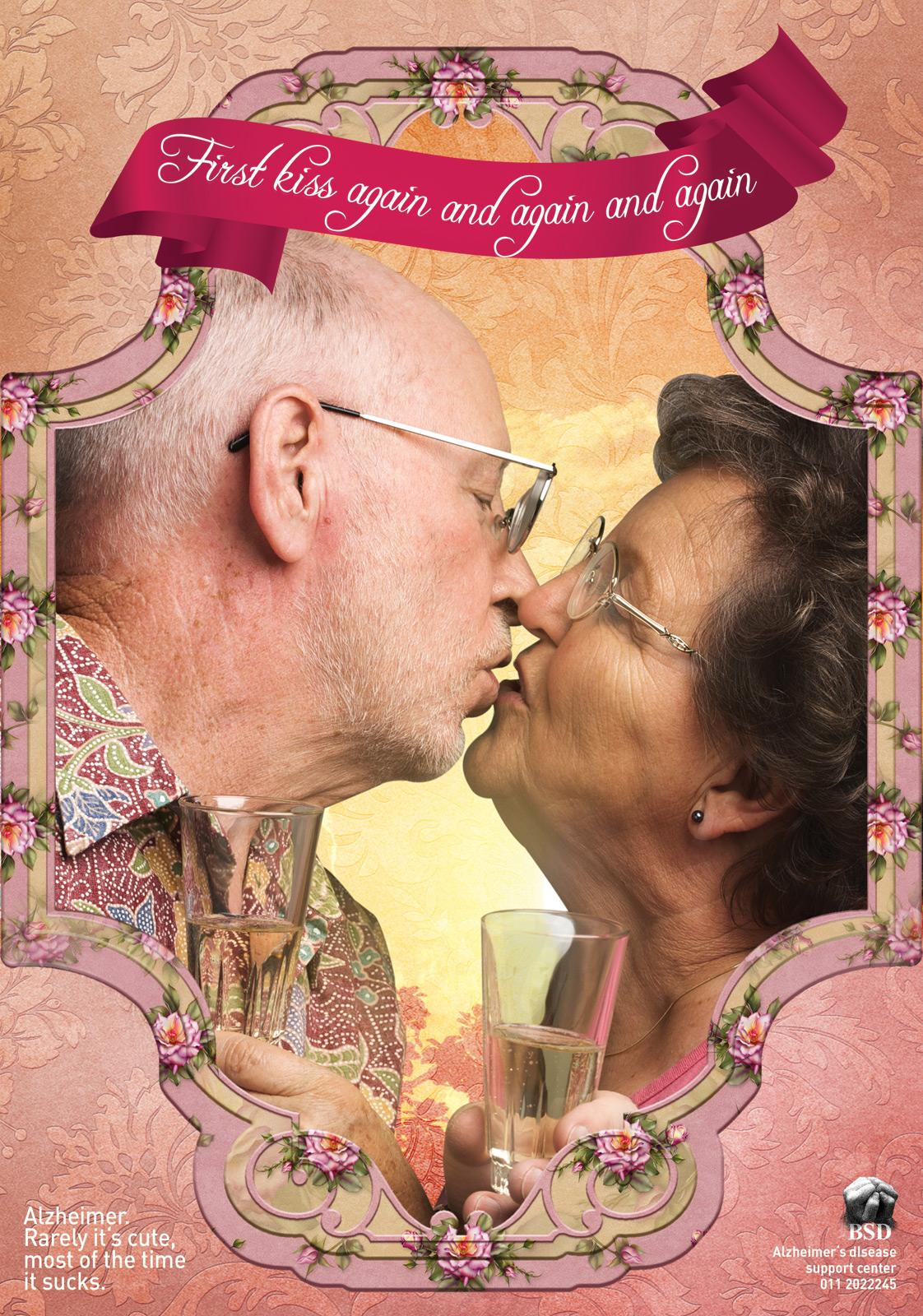 Alzheimer's disease support center Print Ad -  Kiss
