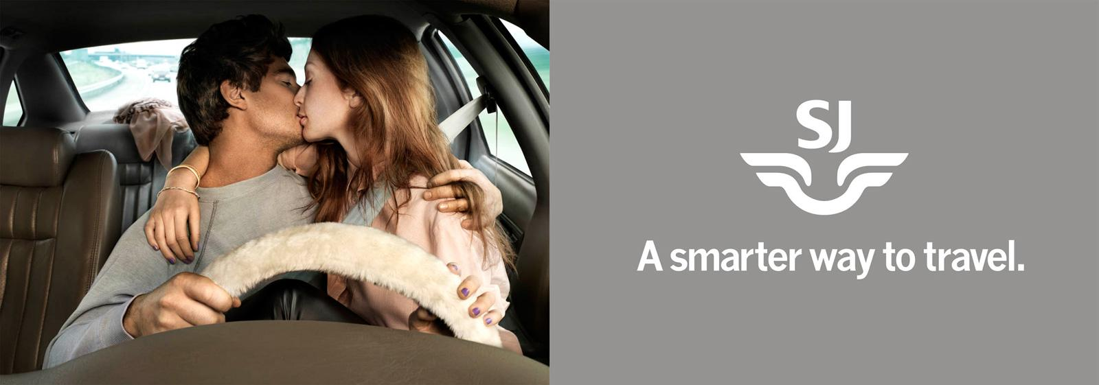 SJ Outdoor Ad -  A Smarter Way to Travel, Kissing