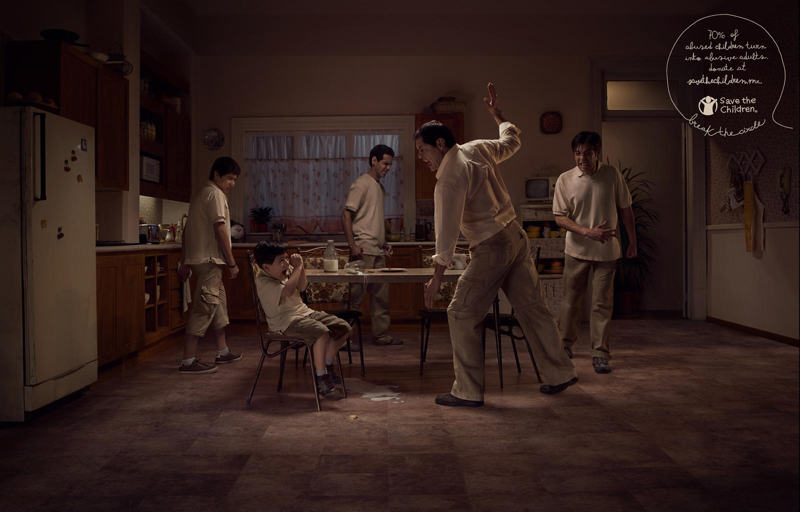Save the Children Print Ad -  Kitchen Circle