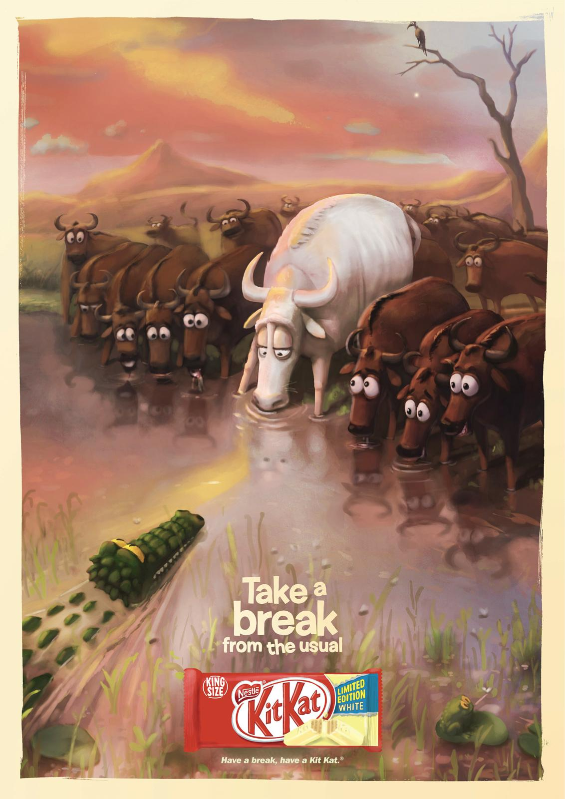 Kit Kat Outdoor Ad -  Take a break from the usual, Croc