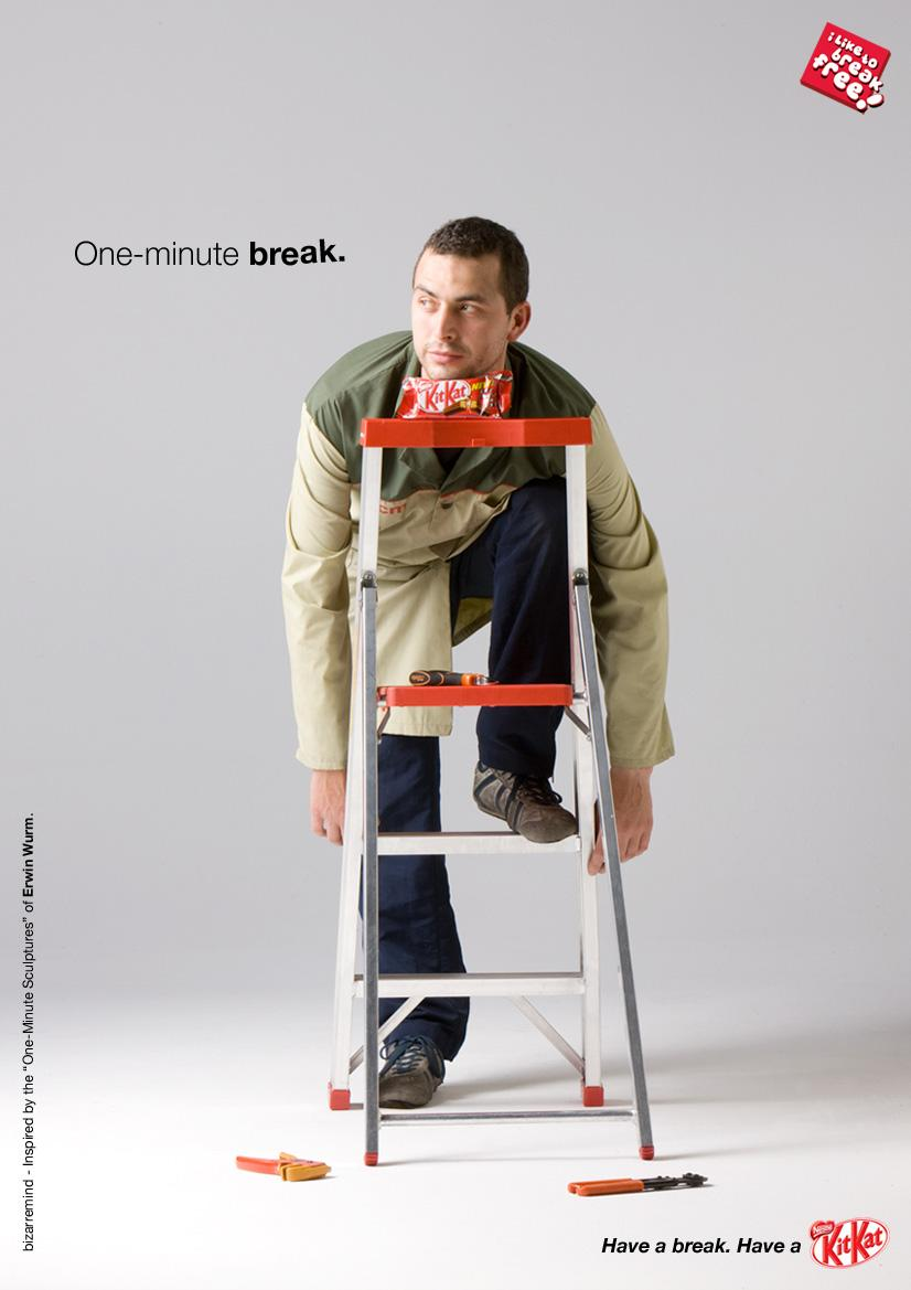 Kit Kat Print Ad -  One-minute break, 1