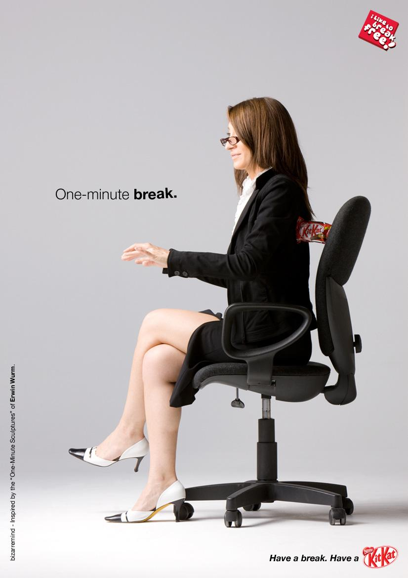 Kit Kat Print Ad -  One-minute break, 2