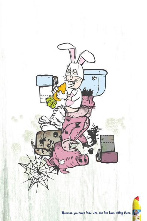 Kiwi Print Ad -  Rabbit