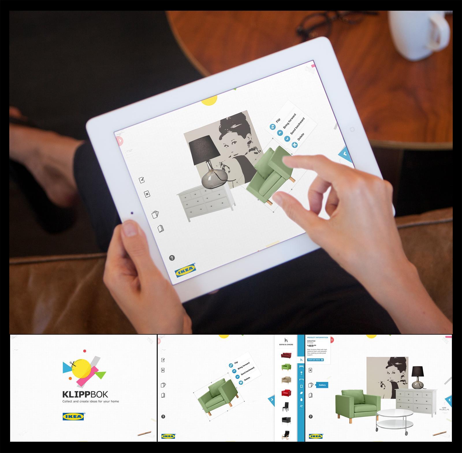 IKEA Digital Ad -  Klippbok iPad App