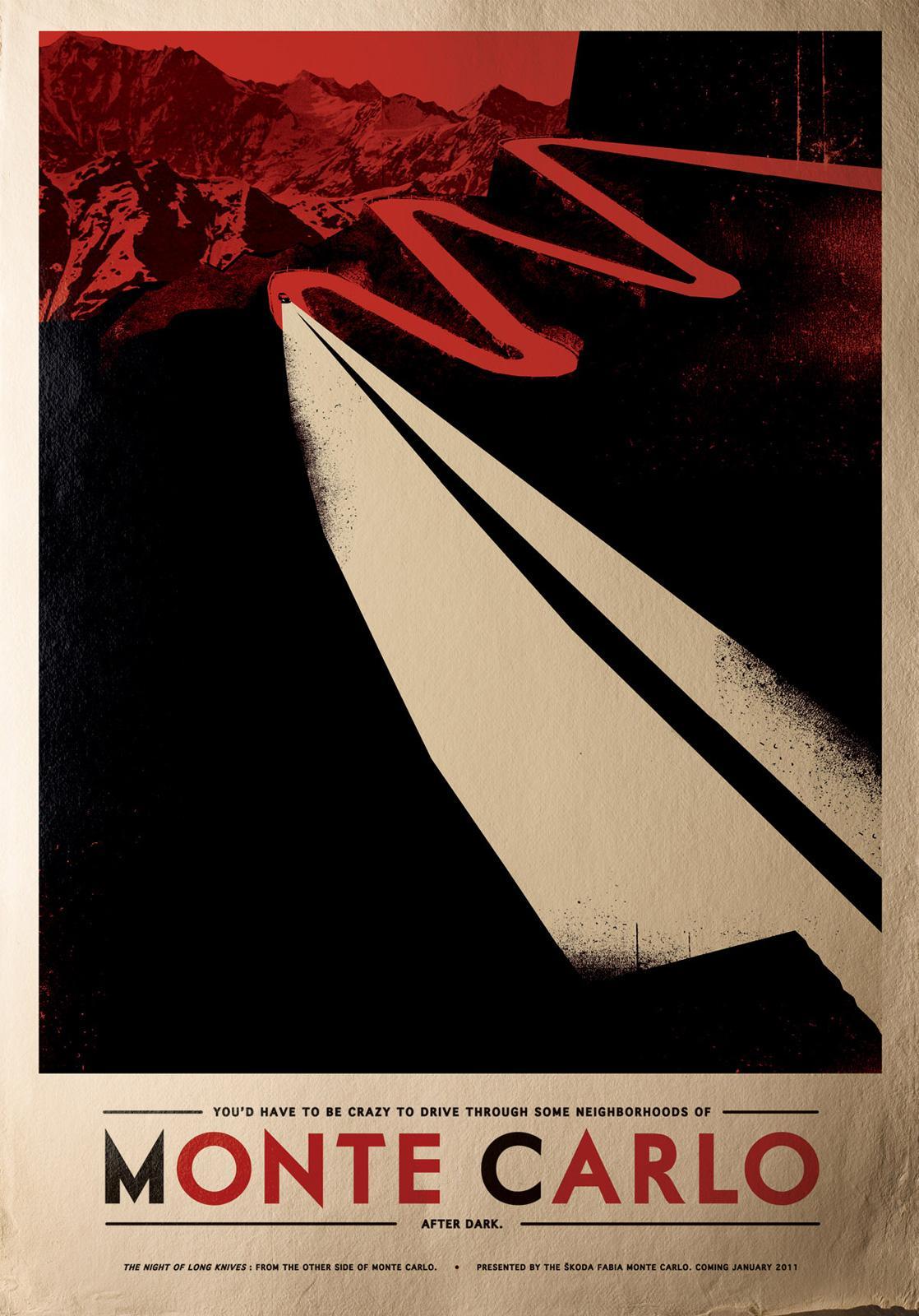 Skoda Print Ad -  Monte Carlo, Knife