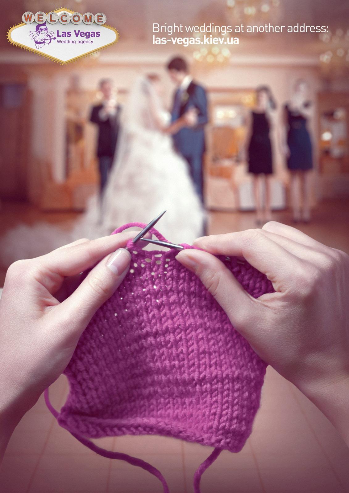 Las Vegas Wedding Agency Print Ad -  Knitting