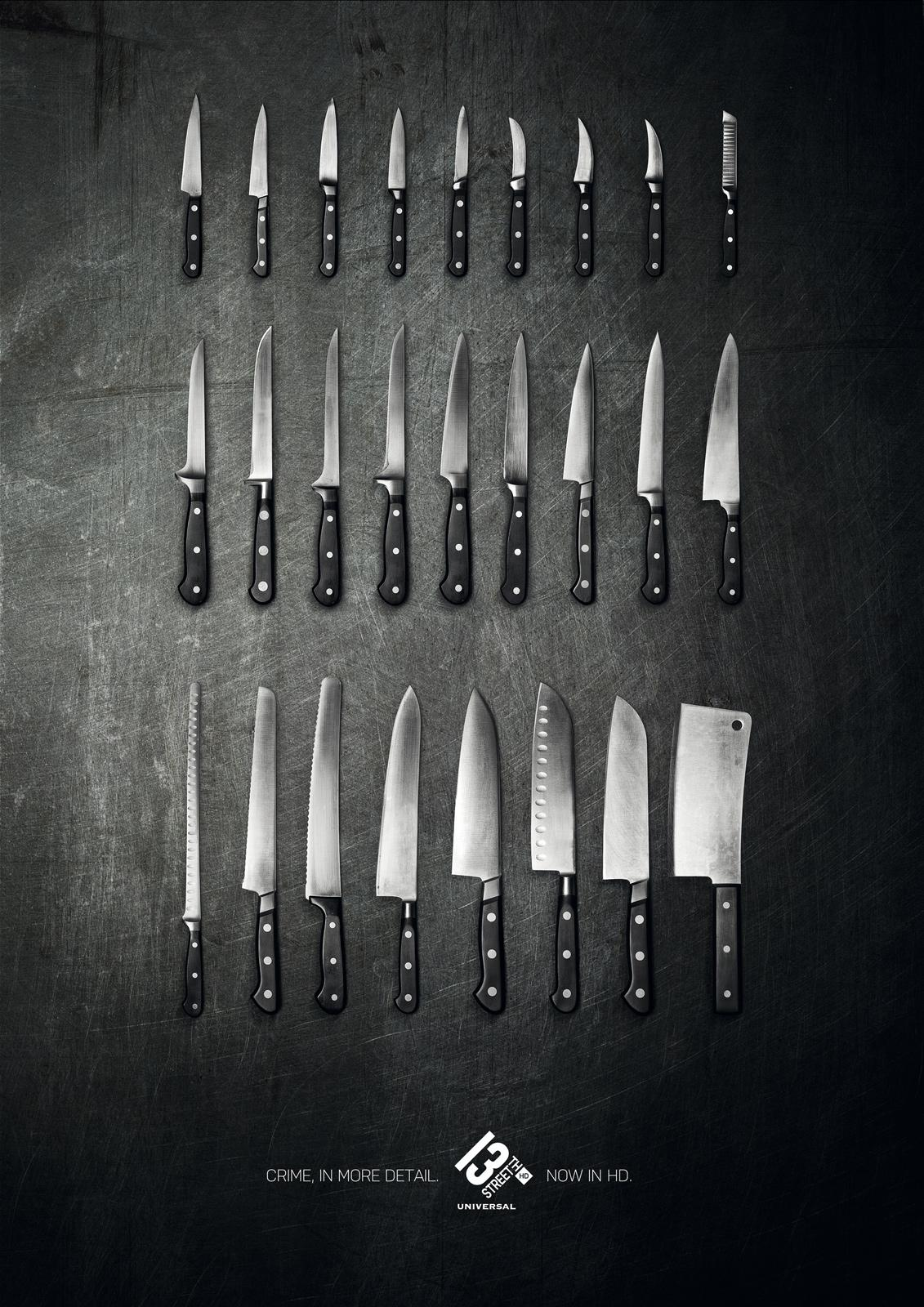 13th Street Print Ad -  Knives
