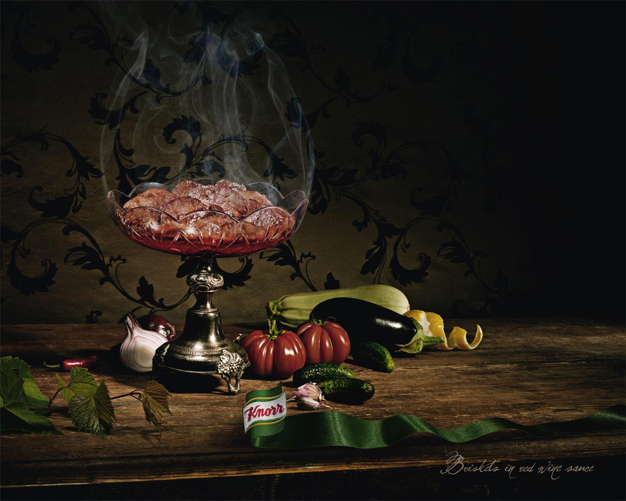 Knorr Print Ad -  Briskets in red wine sauce