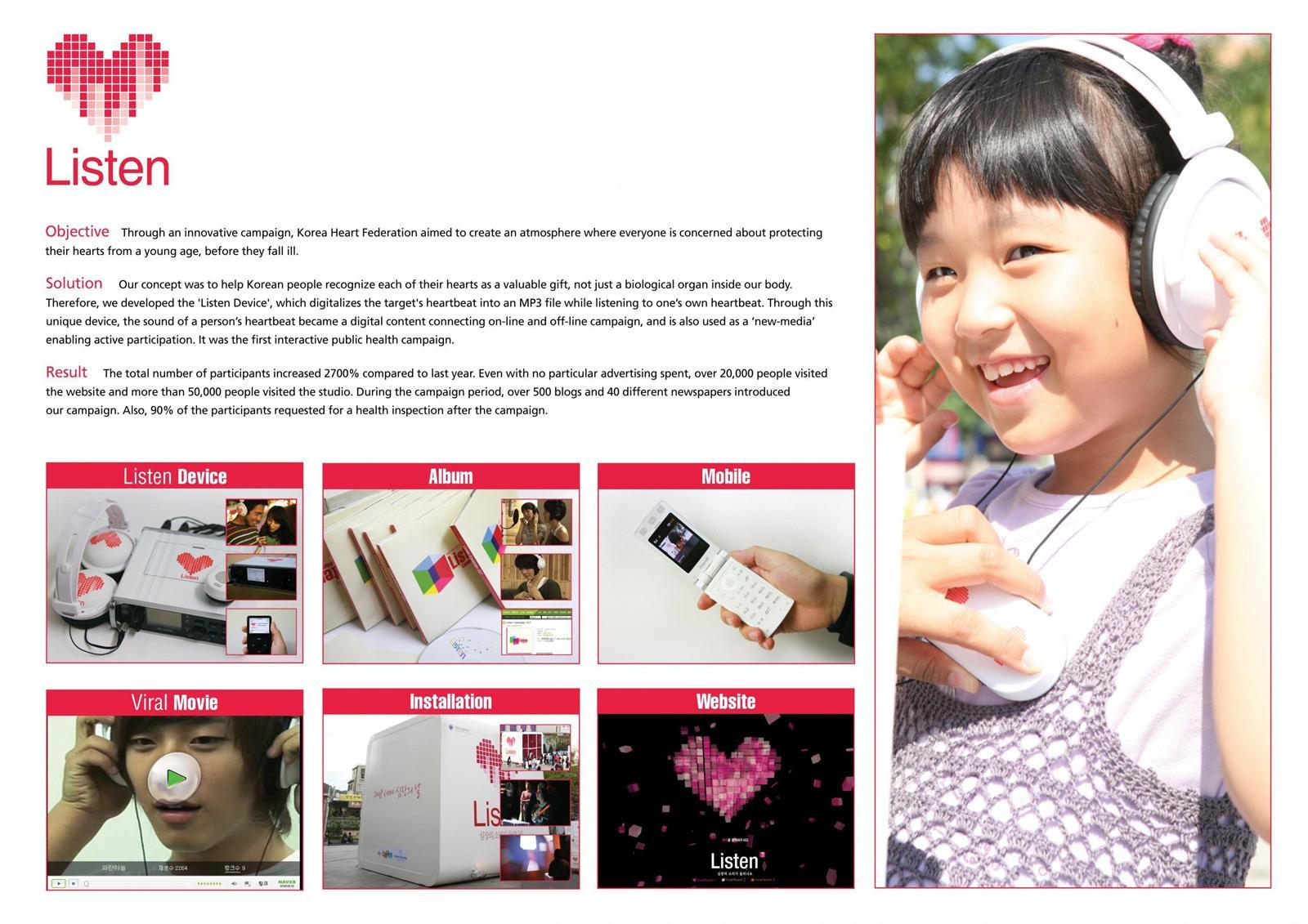 Korea Heart Federation Ambient Ad -  Listen