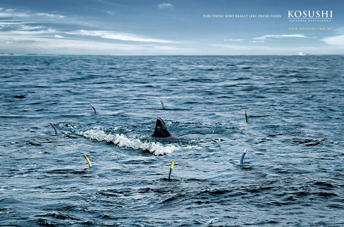 Kosushi Print Ad -  Shark