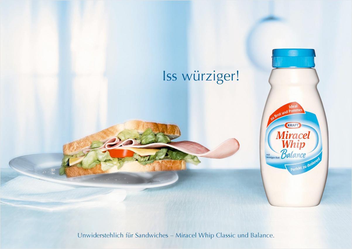 Miracel Whip Print Ad -  Sandwich