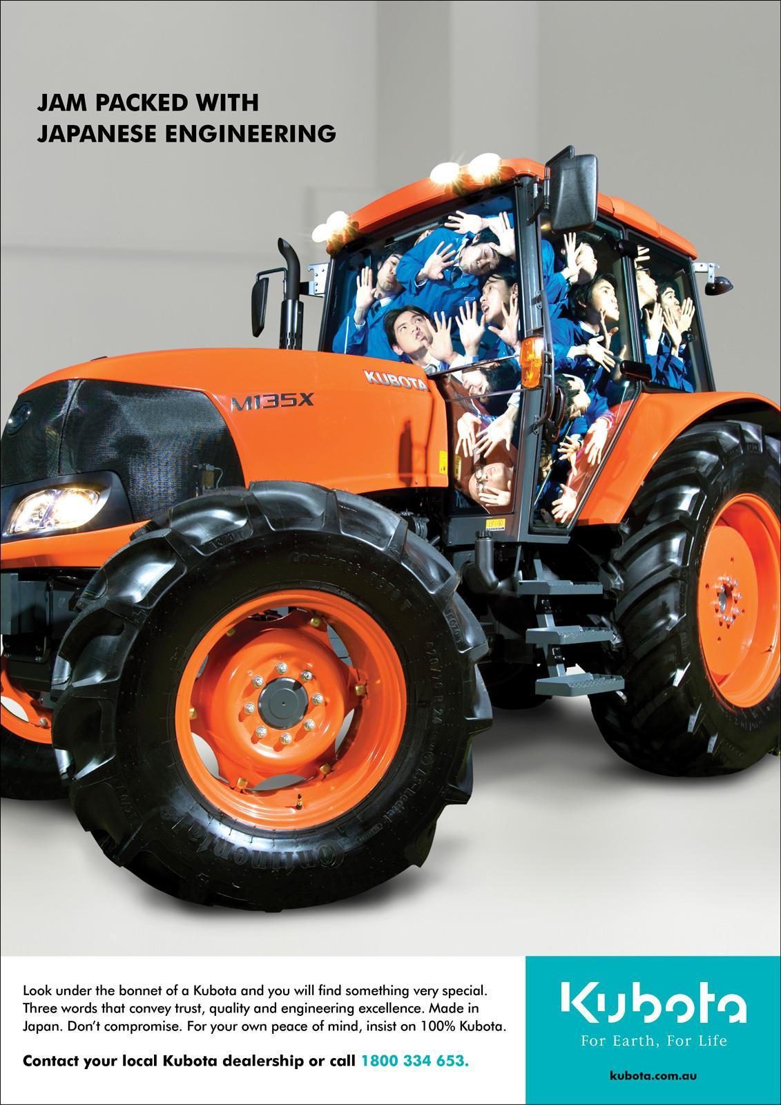 Kubota Print Ad -  Tractor