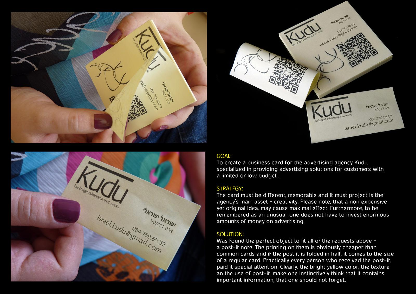 Kudu Direct Advert By Kudu: Business card | Ads of the World™