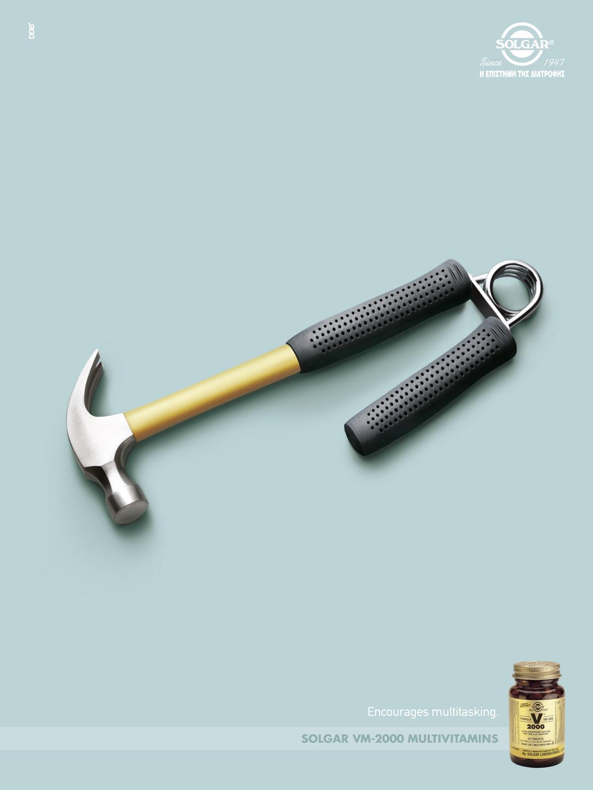 Solgar Print Ad -  Encourages multitasking, 3