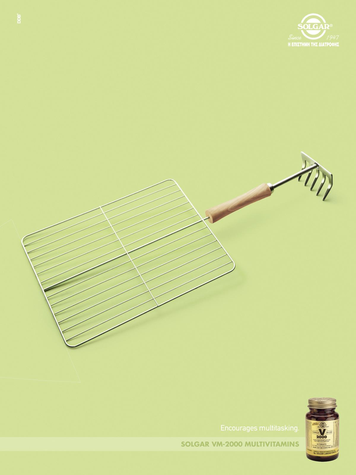 Solgar Print Ad -  Encourages multitasking, 1