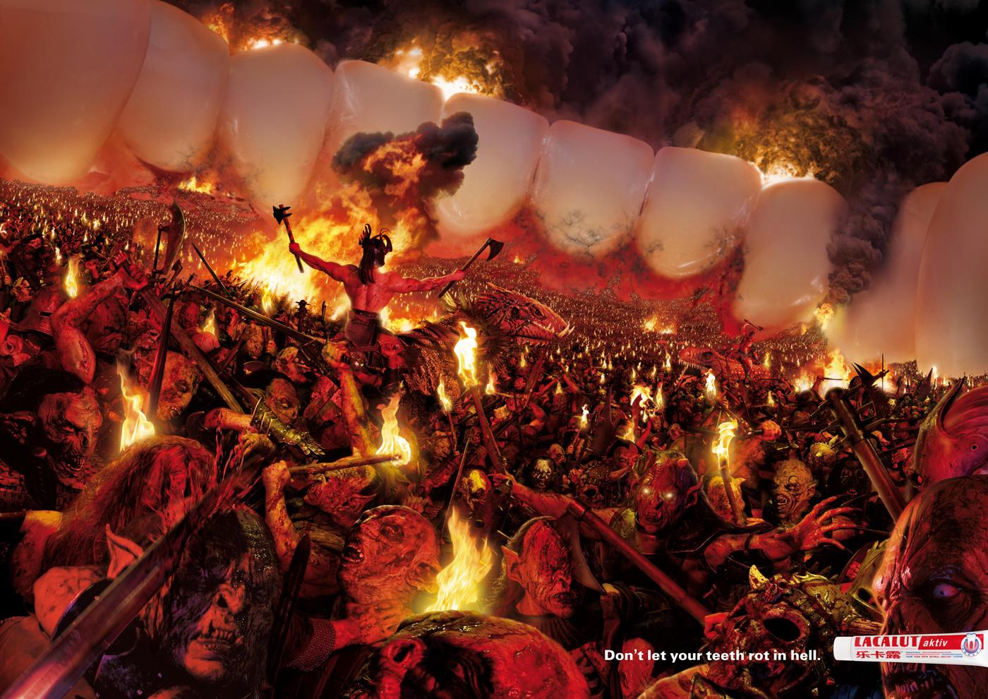 Lacalut Print Ad -  Hell