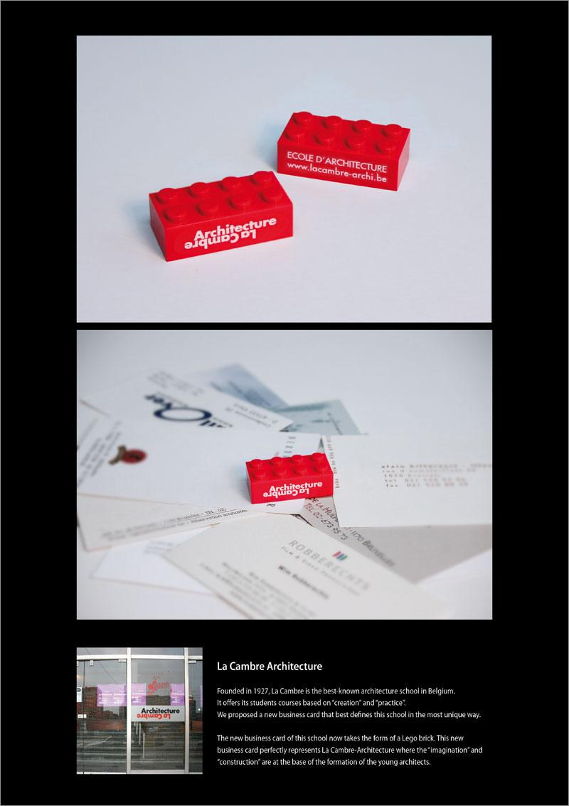 La Cambre Architecture Ambient Ad -  Business card