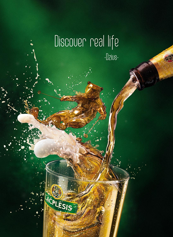 Lacplesis Print Ad -  Discover real life, Ski