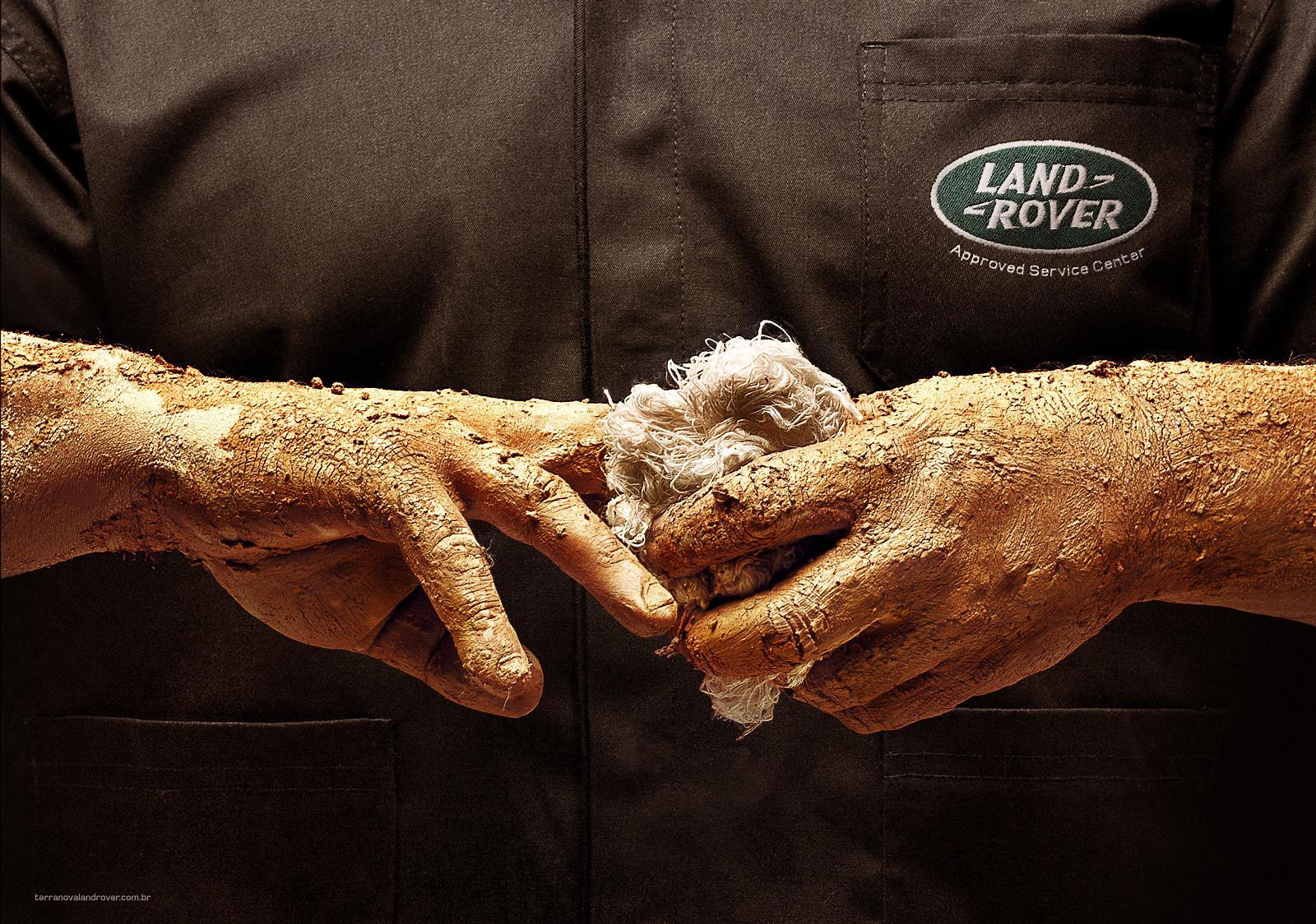 Land Rover Print Ad -  Mechanic