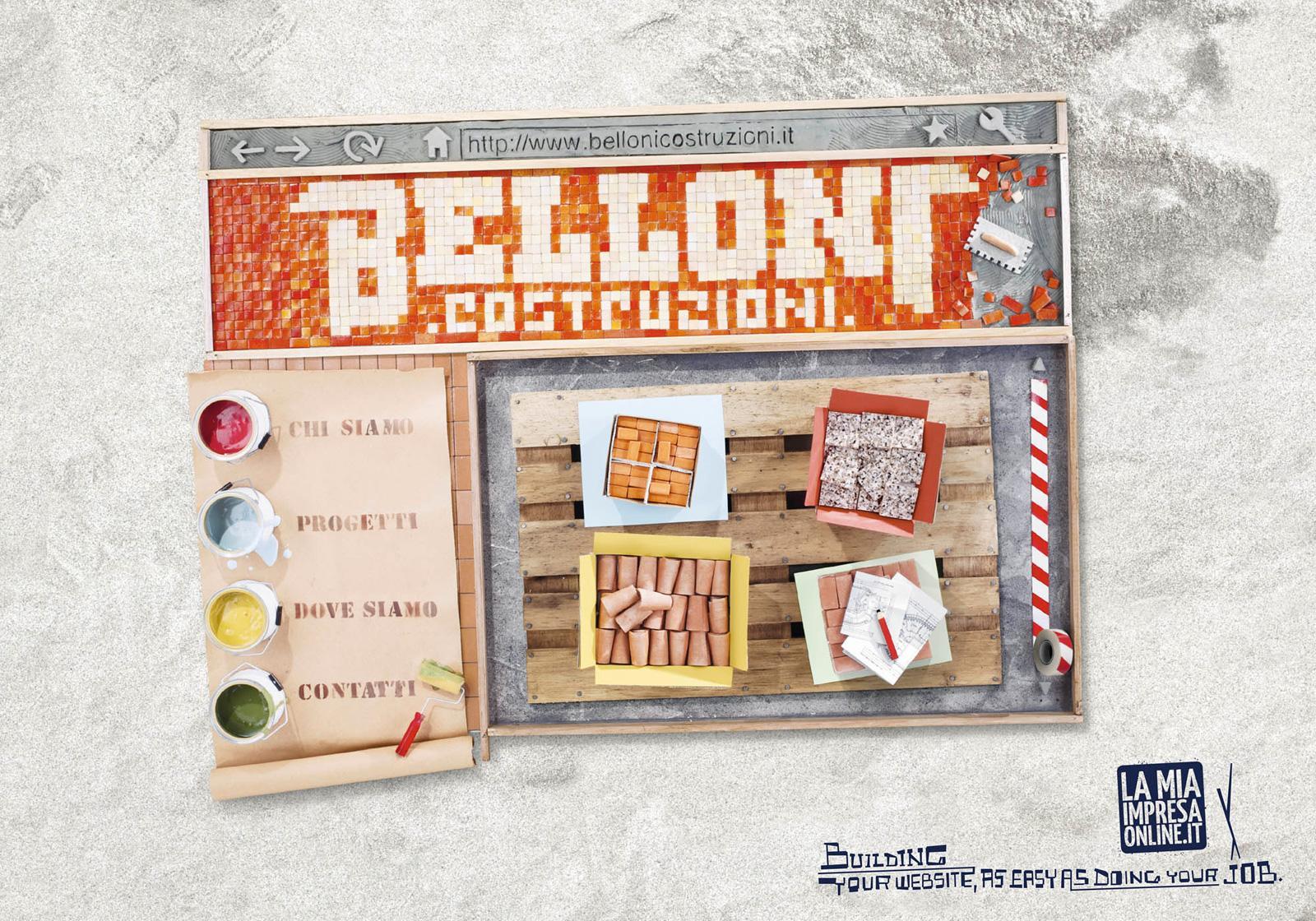 LaMiaImpresaOnline Print Ad -  Building your Web Business, Belloni Costruzioni