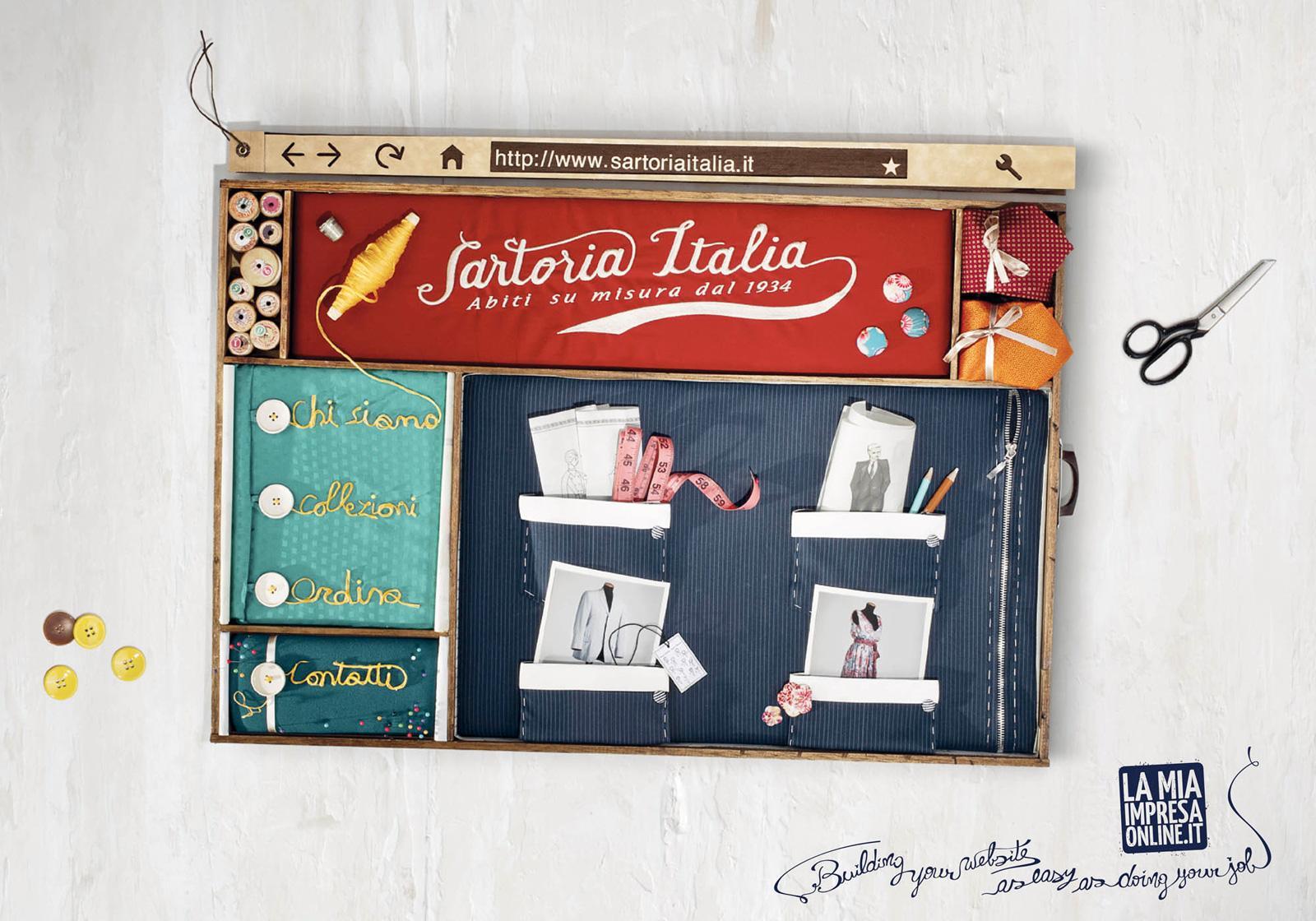 LaMiaImpresaOnline Print Ad -  Building your Web Business, Sartoria Italia