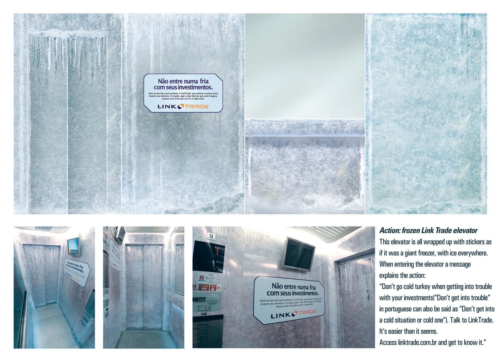 Link trade Ambient Ad -  Frozen elevator