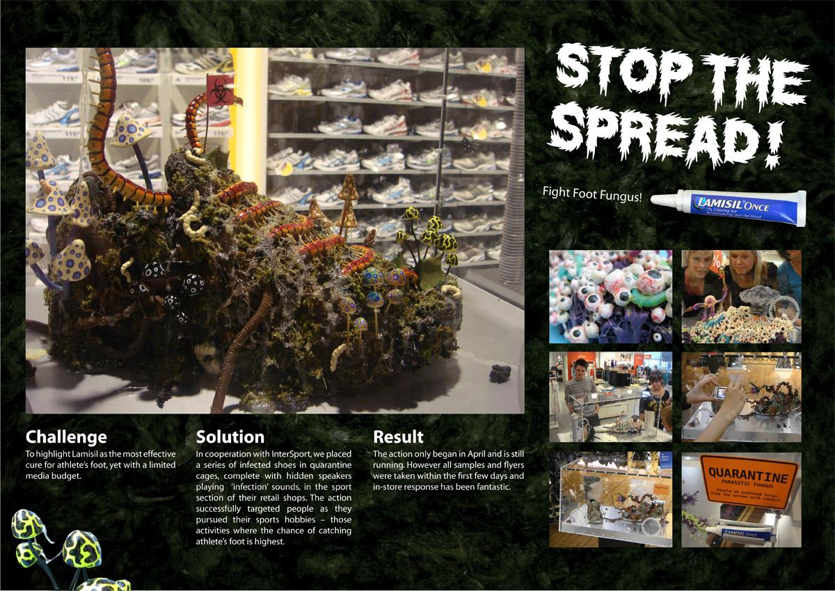 Lamisil Outdoor Ad -  Stop the spread