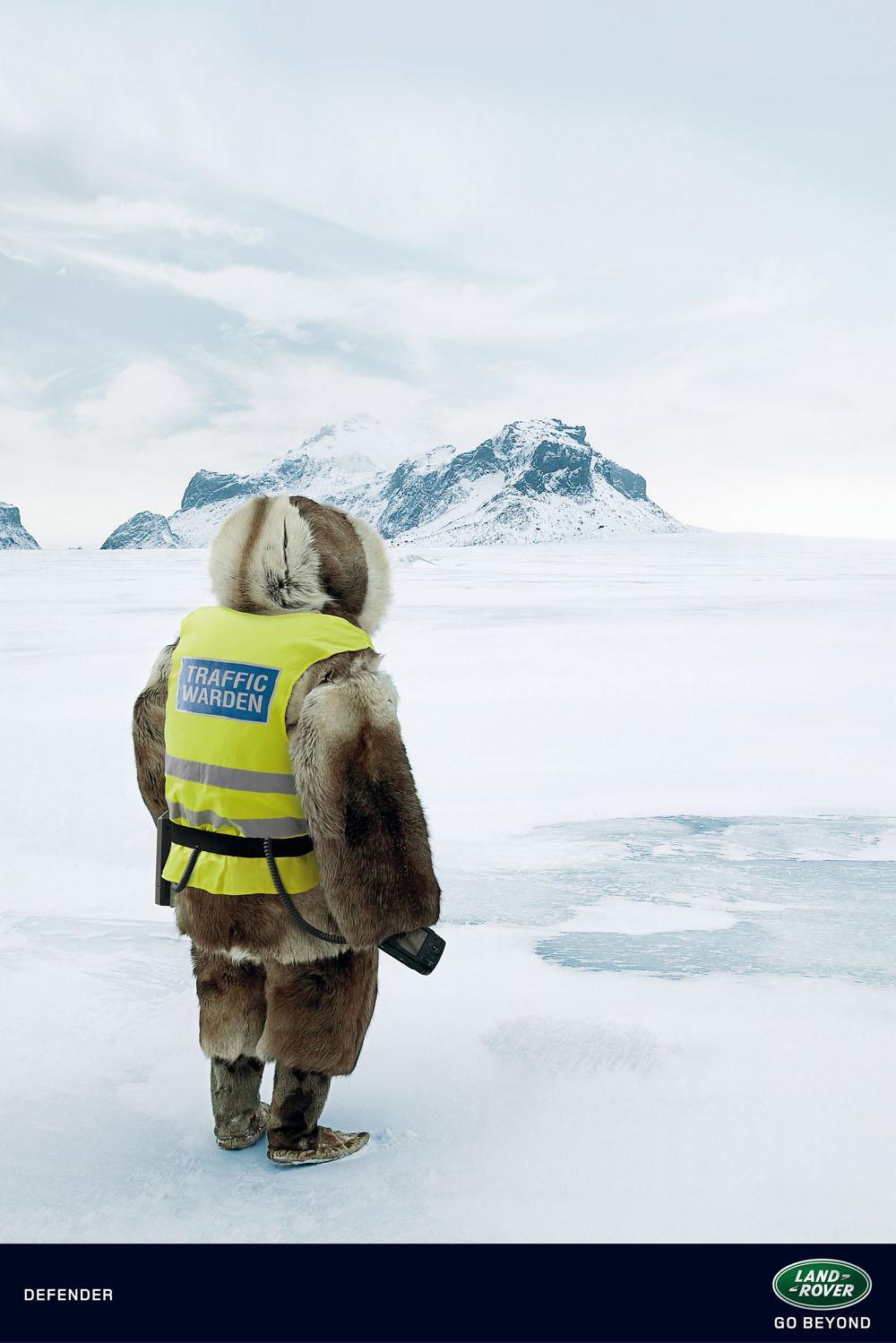 Land Rover Print Ad -  Landscapes, Eskimo